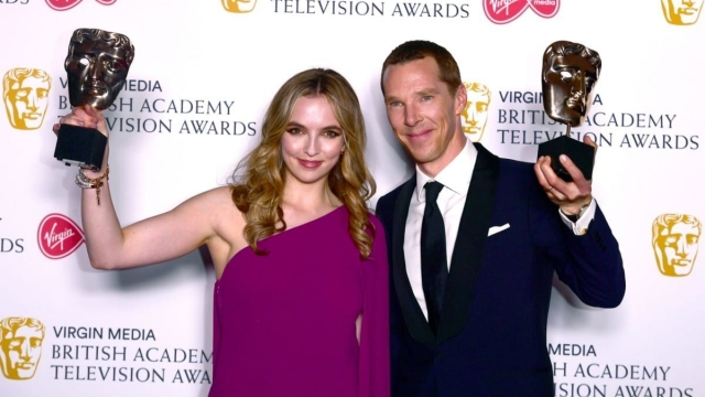 Best actress Jodie Comer and best actor Benedict Cumberbatch won for Killing Eve and Patrick Melrose respectively (Photo: Ian West/PA Wire)