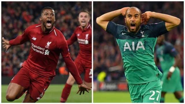 Gini Wijnaldum and Lucas Moura led Liverpool and Spurs through two incredible semi-finals (Getty Images)