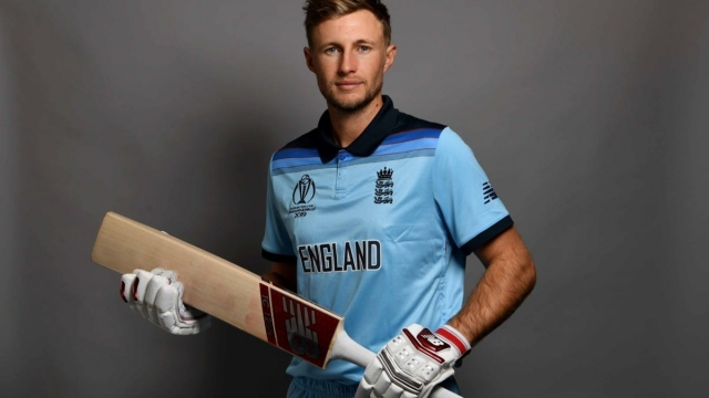 Joe Root poses in England's new kit for the Cricket World Cup 2019 (Getty Images)