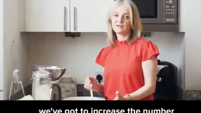 Liz Truss threw her two pennies' worth into the mix by posting a video on Twitter which features her, in what we can only presume is her kitchen, making bread and talking about 'reviving the dream of home ownership' (Twitter)