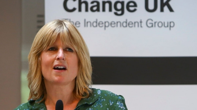 Article thumbnail: Change UK European Parliament election candidate Rachel Johnson speaks at a campaign rally in Bath in 2019 (Photo: GEOFF CADDICK/AFP)