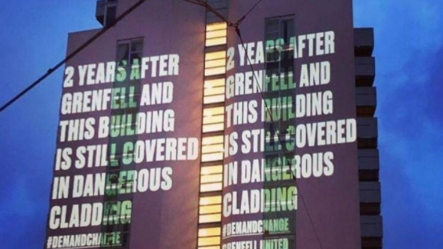 The projections sent a powerful message (Photo: PA)