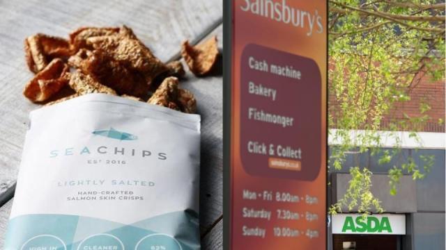 Salmon skin crisps Sainsbury's