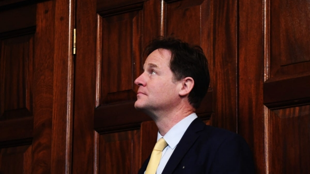 LONDON, ENGLAND - MAY 02: Former Liberal Democrat leader Nick Clegg prepares to give a speech at the National Liberal Club on May 2, 2017 in London, England. (Photo by Leon Neal/Getty Images)