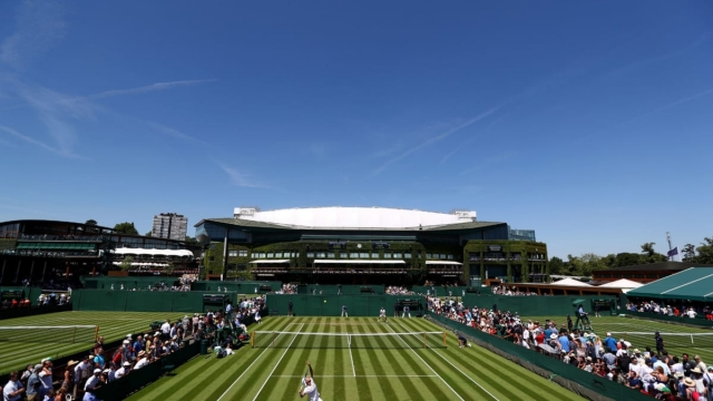 A general view of the Wimbledon Lawn Tennis Championships on 2 July 2018. (Getty Images)