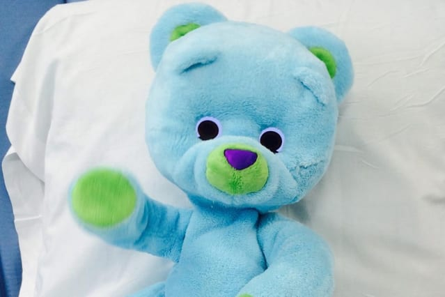 Huggable the bear was observed to be beneficial to children's recovery in hospital (Photo: Courtesy of the Personal Robots Group, MIT Media Lab)