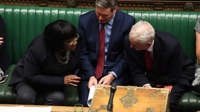 Diane Abbott with Keir Starmer and Jeremy Corbyn on the Labour front bench (Photo: Jessica Taylor/UK Parliament)