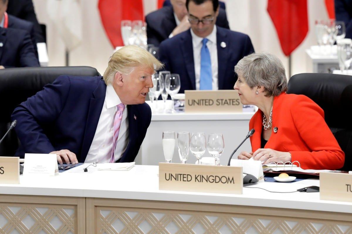 US President Donald Trump and Theresa May in Japan (Photo: Kiyoshi Ota/Pool/Reuters)