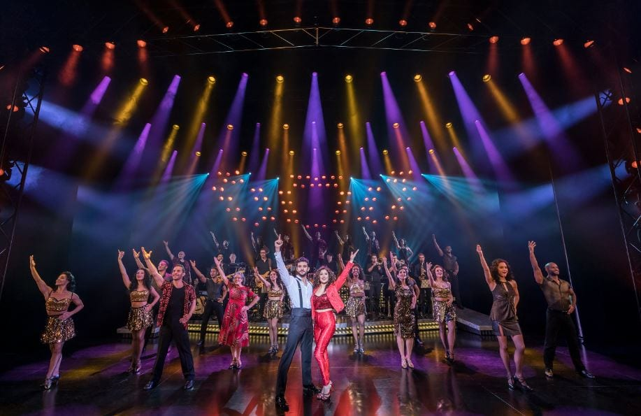 George Ioannides as Emilio Estefan and Christie Prades as Gloria Estefan in On Your Feet! (Photo: Johan Persson)