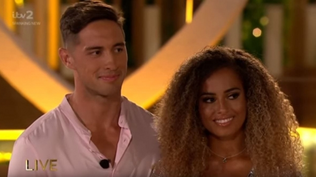 Greg O'Shea and Amber Gill on Love Island