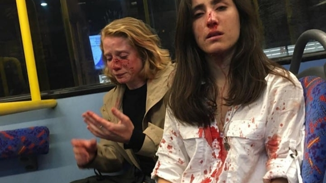 Both women were take to hospital for their injuries (Photo: Melania Geymonat)