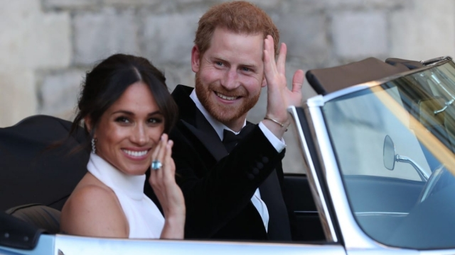 The Duke and Duchess of Sussex had their evening wedding reception at Frogmore House (Photo: PA)