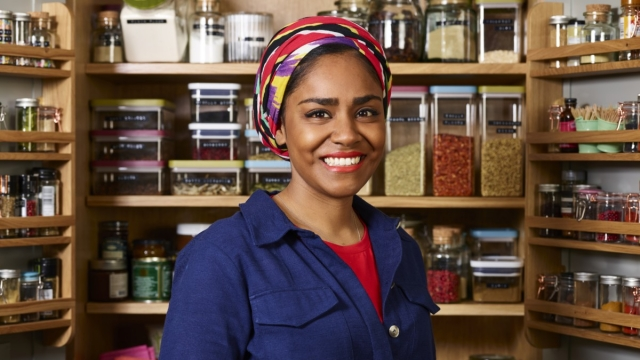 Nadiya's Time to Eat sees her championing tinned potatoes (Adam Lawrence)