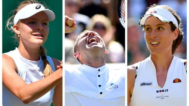Harriet Dart, Dan Evans and Johanna Konta all won in the singles (Getty Images)