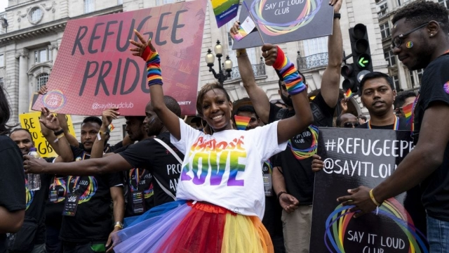 Article thumbnail: Celebrating Pride in London (Ohoto: Niklas Halle'n/AFP/Getty Images)