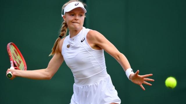 Harriet Dart won her first main draw singles match at Wimbledon (Getty Images)