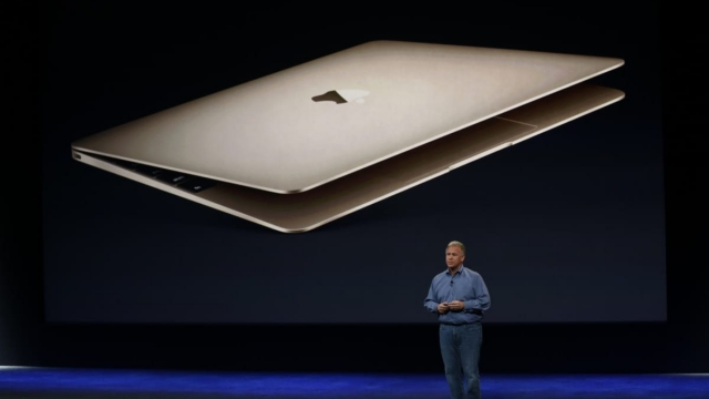 SAN FRANCISCO, CA - MARCH 9: Apple Senior Vice President of Worldwide Marketing Phil Schiller introduces new features on the new MacBook during an Apple special event at the Yerba Buena Center for the Arts on March 9, 2015 in San Francisco, California. Apple Inc. is expected to unveil more details on the much anticipated Apple Watch, the tech giant's entry into the rapidly growing wearable technology segment. (Photo by Stephen Lam/Getty Images)