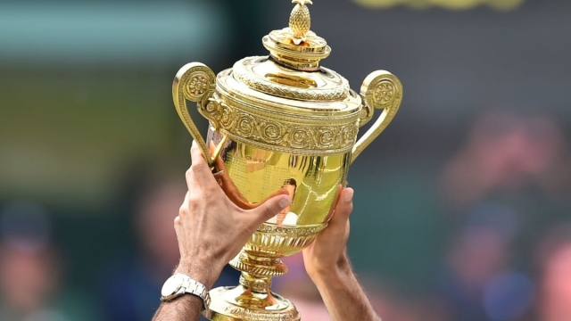 Pineapple on the Wimbledon trophy