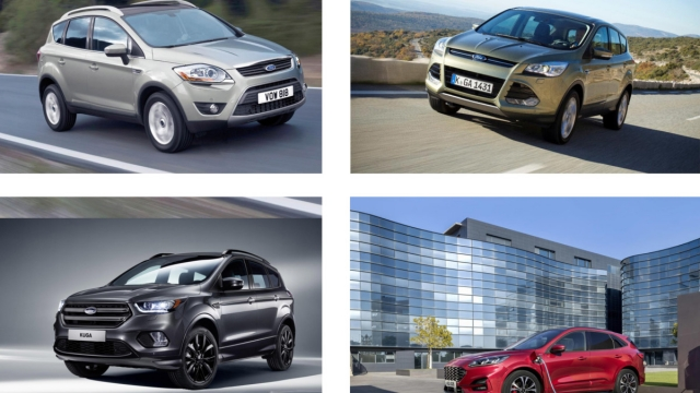 Ford Kuga models from 2008 to 2019