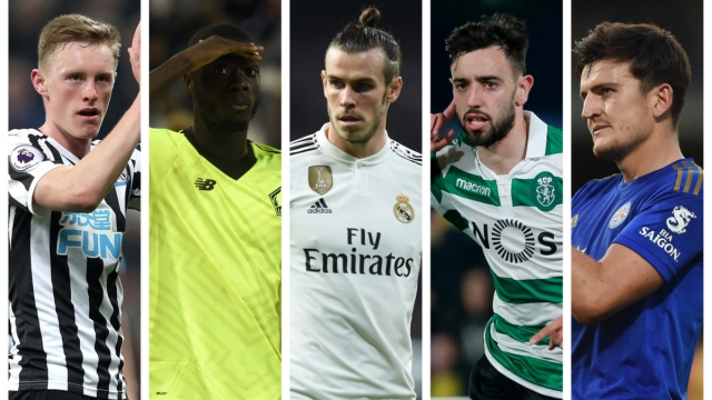 Sean Longstaff, Nicolas Pepe, Gareth Bale, Bruno Fernandes and Harry Maguire have all been linked with Manchester United in the transfer window this summer (Getty Images) news latest