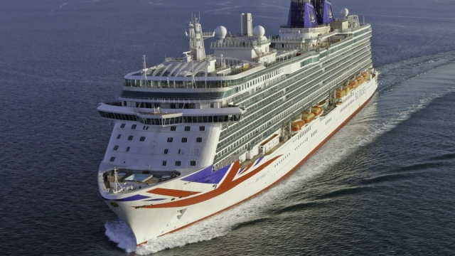 Police were called after the incident on the P&O Cruises ship Britannia
