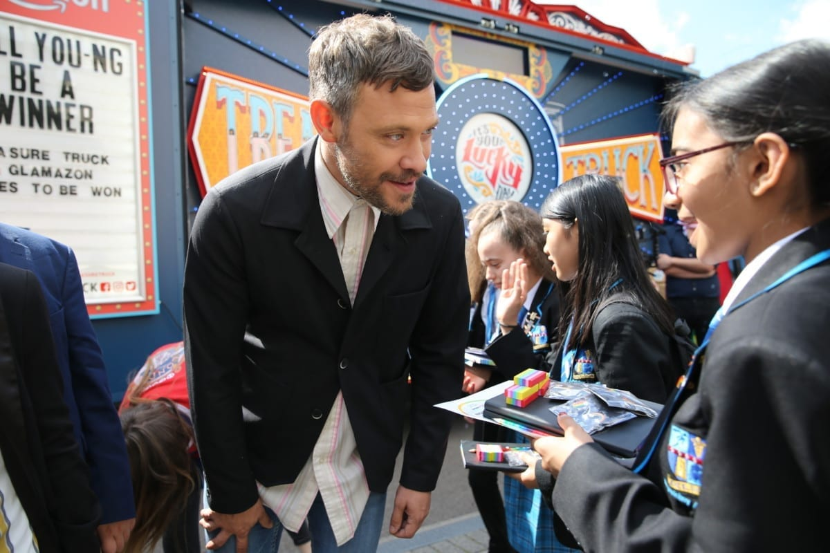 Music artist Will Young talks to pupils at Petchey Academy last year (Photo: Isabel Infantes/PA Wire)