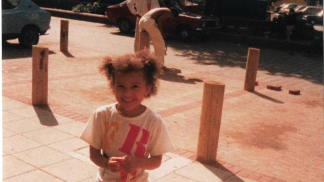 Article thumbnail: The author Luan Goldie as a child. Her book, Nightgale Point was inspired by her childhood living on the Pembury estate