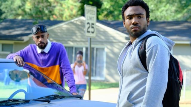 Lakeith Stanfield as Darius and Donald Glover as Earn in Atlanta: Robbin' Season