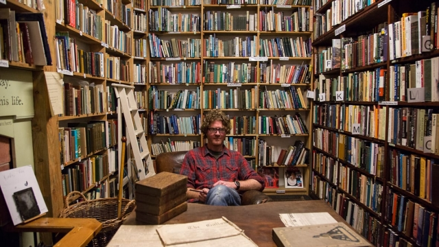 Shaun Bythell estimates that he has handled half a million books at The Bookshop, Wigtown