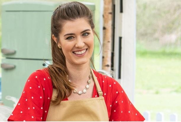 Alice Fevronia, 28, in the Bake Off 2019 tent