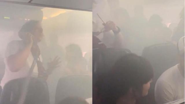 British Airways smoke cabin