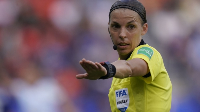 Stephanie Frappart during the Women's World Cup