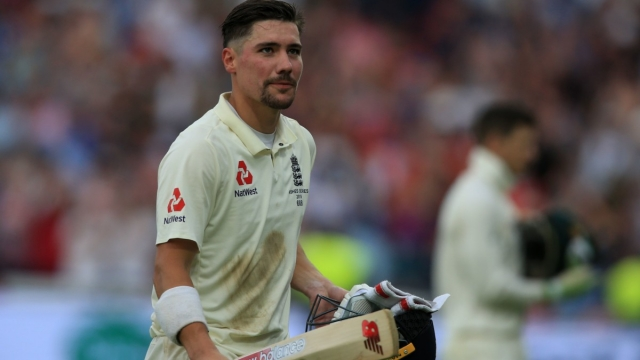 England's Rory Burns walks off at stumps on the second day of the first Ashes cricket Test match (AFP/Getty Images)