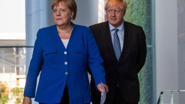 Angela Merkel put the onus on Britain to break the Brexit impasse - at talks in Berlin with the Prime Minister