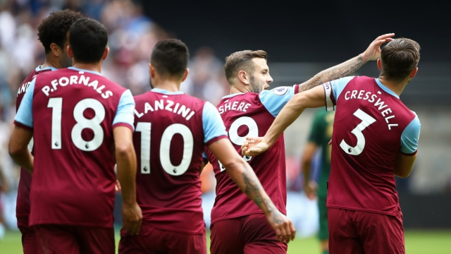 Jack Wilshire of West Ham celebrates scoring against Athletic Bilbao on 3 August 2019 (Getty Images)