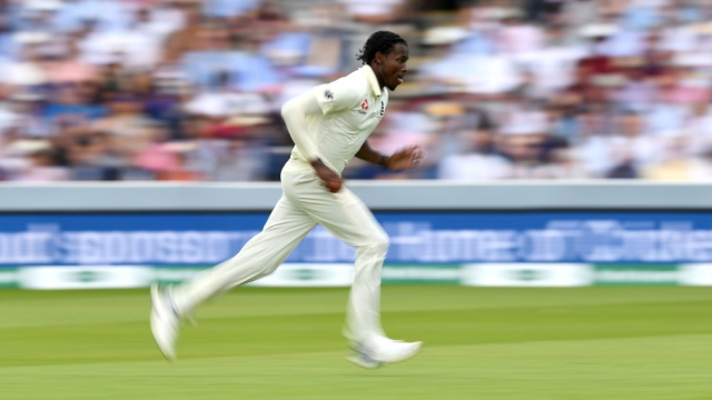 Jofra Archer bowled well in excess of 90mph at Lord's