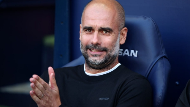 Pep Guardiola, manager of Manchester City, against Spurs on 17 August 2019 (Getty Images)