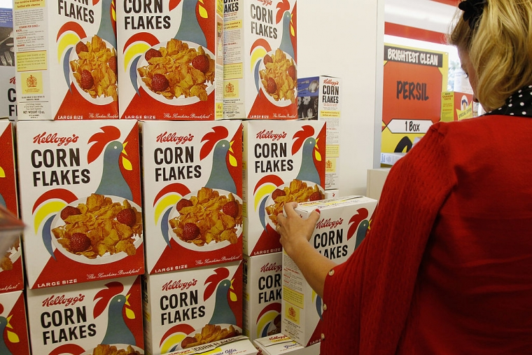 Corn Flakes were invented in the 1800s by W.H. Kellogg