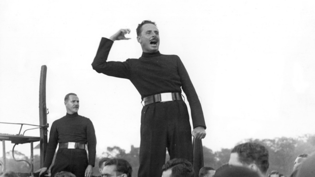 Oswald Mosley was a fascist politician in the UK who gained thousands of supporters (Photo by Fox Photos/Getty Images)
