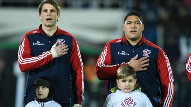 USA rugby union team at anthems against Georgia on 25 November 2017 (Getty Images)