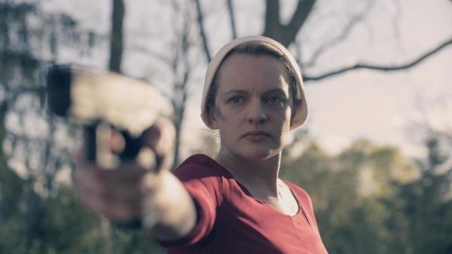 Article thumbnail: Elisabeth Moss as June in The Handmaid's Tale season 3 finale on Channel 4