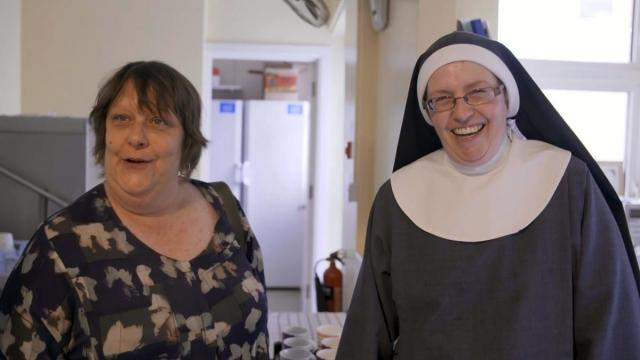 Article thumbnail: Kathy Burke and Sister Elizabeth