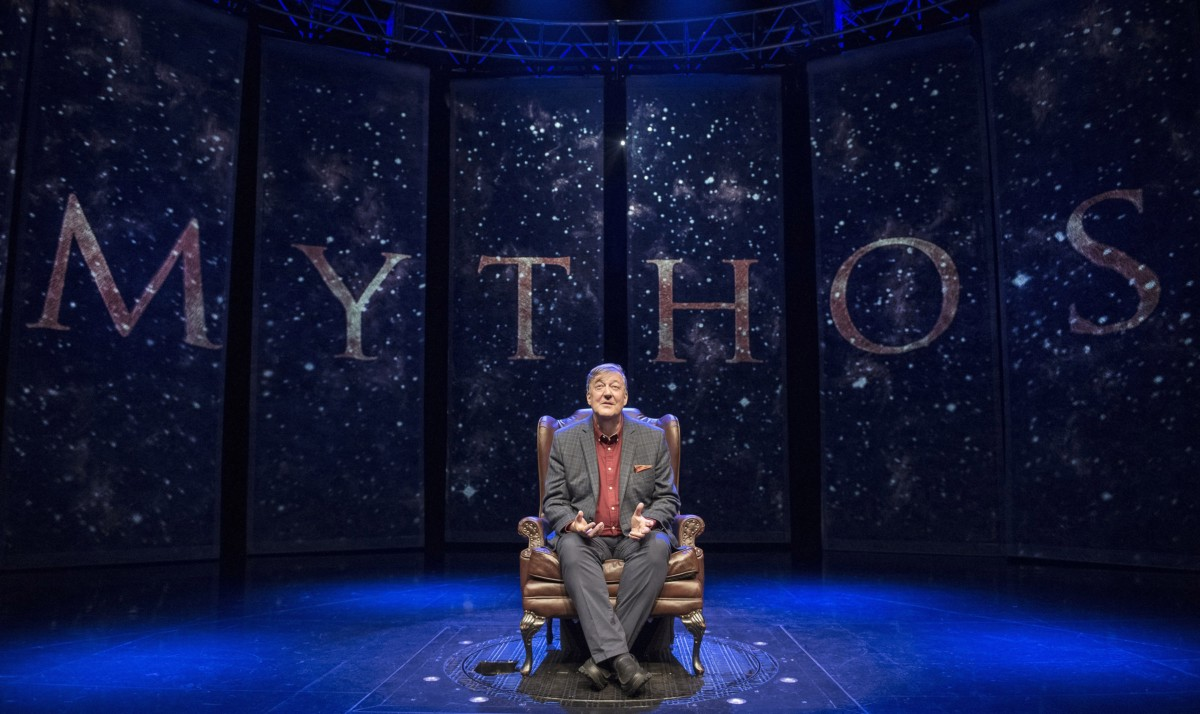 Article thumbnail: Stephen Fry in Mythos: A Trilogy - Gods. Heroes. Men at Edinburgh International Festival (Photo: David Cooper)