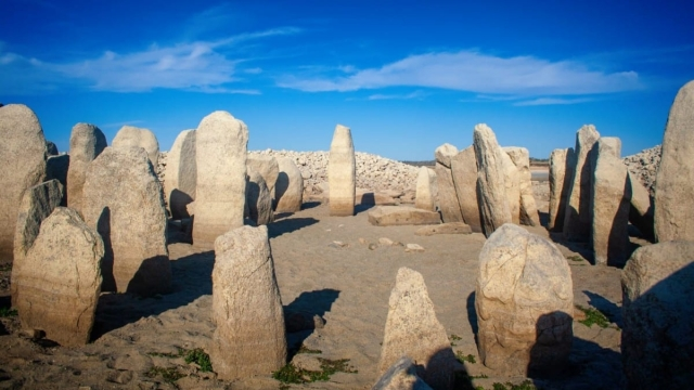Dating back 5,000 years, the circle of granite menhirs are all that remains of a sun temple built by Bronze Age man on the banks of the Tagus River