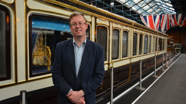 Anthony Coulls, senior Curator of rail transport and technology at the national railway museum in Secrets Of The Royal Train Channel 5