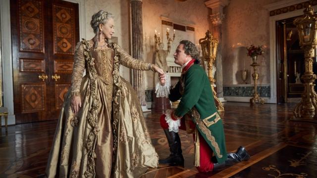 Helen Mirren as Catherine the Great and Jason Clarke as Potemkin. Photo: Sky Atlantic