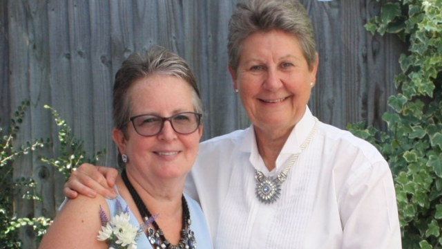 Sandra Morris (L) and Pamela Shallcrass (R) have both been affected by the state pension age changes