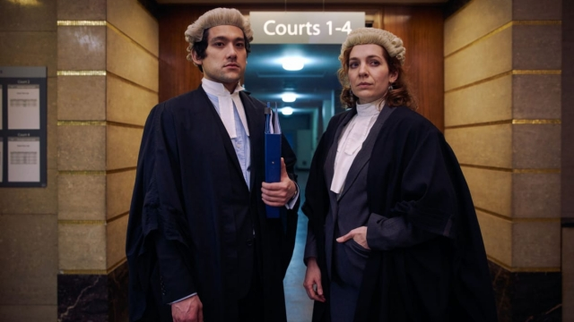 Will (WILL SHARPE), Caroline (KATHERINE PARKINSON) in Defending The Guilty (Photo: BBC)