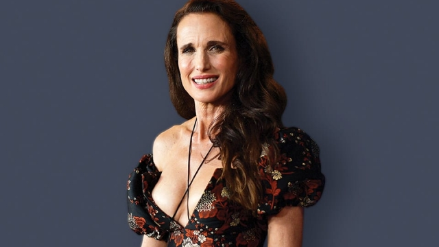 Andie MacDowell at the LA premiere of Ready or Not. Photo: Matt Winkelmeyer/Getty