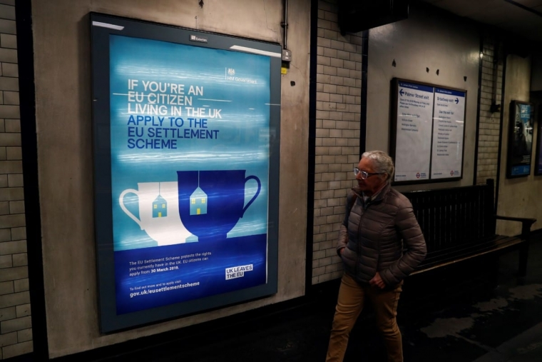 A poster, aimed at EU citizens living in the UK, encouraging EU nationals to apply to the Government's post-Brexit EU settlement scheme (Photo: Getty Images)